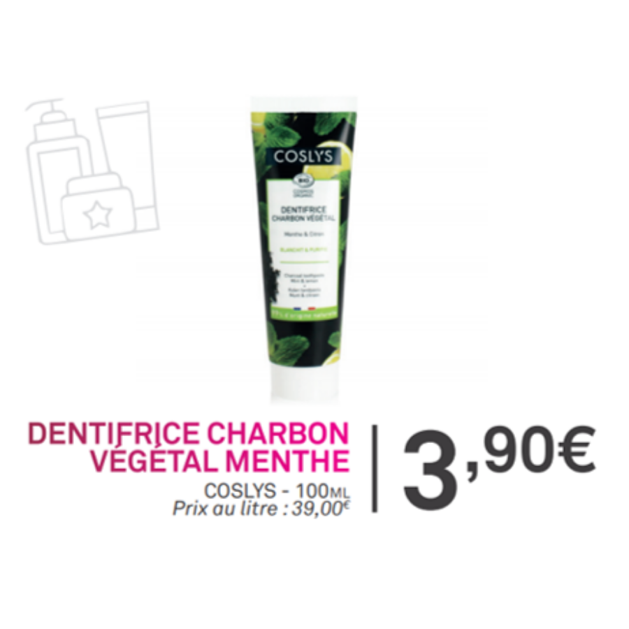 dentifrice charbon menthe